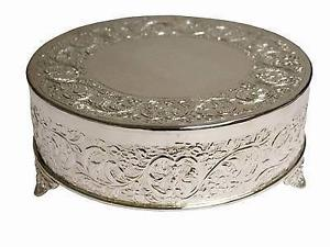 silver round wedding cake stand cake stands cloud nine weddings 19874